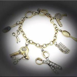 Jewelry - Hairstylist Chunky Scissor Shears Vintage Bracelet